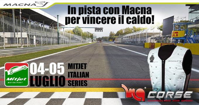 Motorquality combatte il caldo al Mitjet Italian Series con i giubbini MACNA
