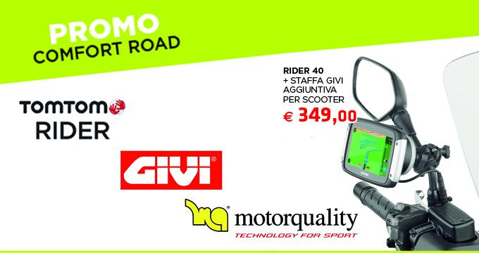 Comfort Road: TomTom e Givi insieme per rispondere alle esigenze di tutti i motociclisti!