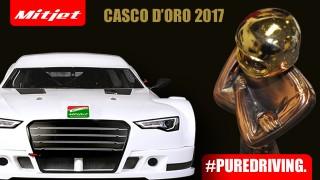 Bruno Zanini riceve il Casco d'Oro di Autosprint per la stagione 2017 di Mitjet Italian Series