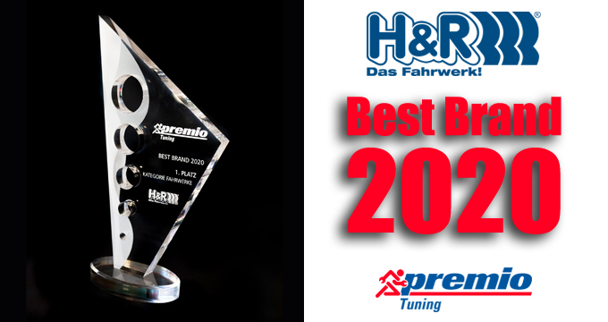 """H&R vince il prestigioso riconoscimento di Premio Tuning come """"Best Brand 2020″!"""