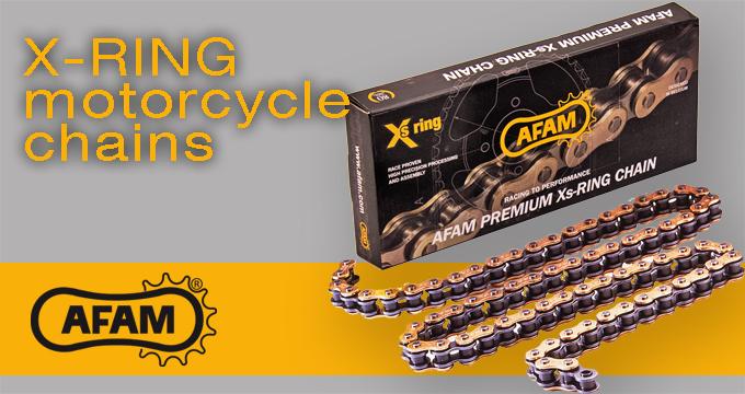 Catene AFAM con anelli XS-Ring: lunga percorrenza e alta scorrevolezza.